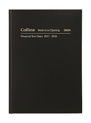 Diary Collins A6 2017/2018 Financial Year Week To Open Black #36M4
