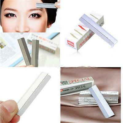 10pc Make Beauty Face Eyebrow Hair Removal Safety Razor Trimmer Shaper Shaver YU