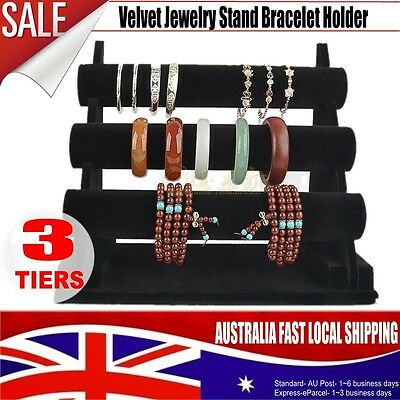 3-Tier Durable Organizer Jewelry Holder Display Bracelet Chain Bangle Watch BST