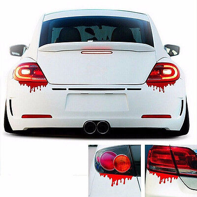 2Pcs Red Blood Car Stickers Reflective Auto Car Decals Bumper Body Sticker Decal