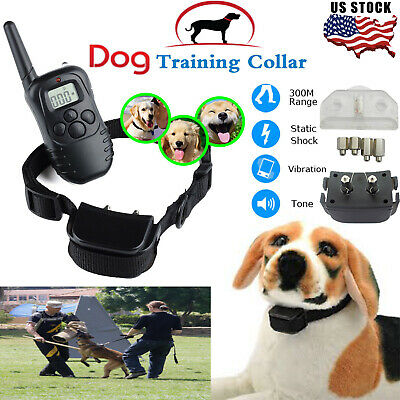 Pet Dog Training Collar Rechargeable Electric LCD 100LV Shock (One Collar) US