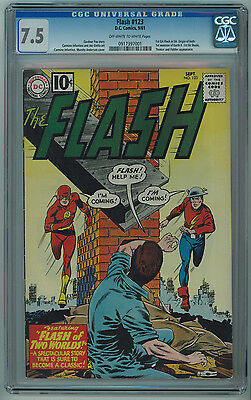 Flash #123 Cgc 7.5 Flash Of Two Worlds Hard To Find In High Grade Ow/w Pages