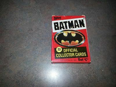 Topps 1989 Batman 33 Official Collector Cards Set C