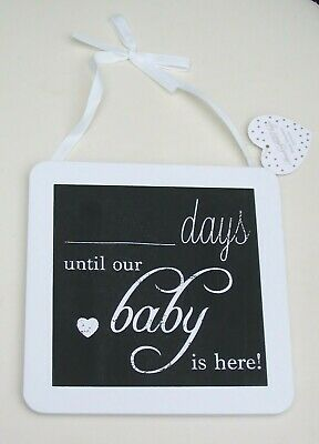 Chalkboard / Plaque /sign For Pregnancy Countdown Until Baby Is Here Baby Shower