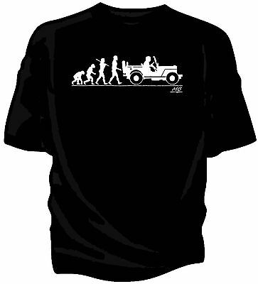 Evolution of Man, Willys MB Jeep t-shirt