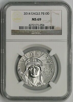 2014 Statue of Liberty One-Ounce Platinum American Eagle $100 MS 69 NGC 1 oz