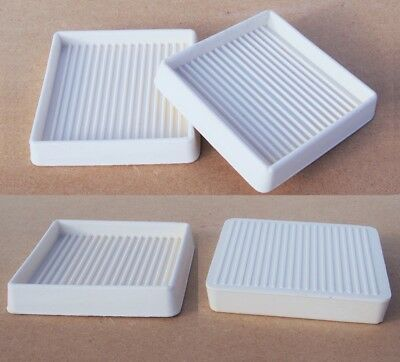 """4 Square Rubber 3x3"""" Furniture Floor Castor Cups Pads Carpet Protector Rests"""