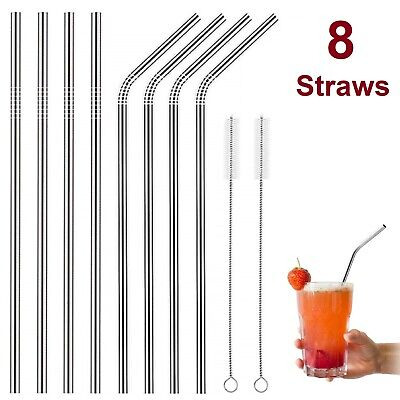 Reusable Stainless Steel Bend DRINKING STRAWS 20 oz Yeti Tumbler and Any Drinks