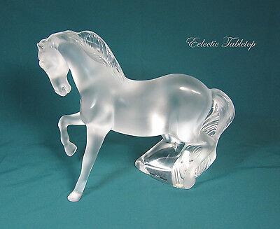 Lalique France Crystal Mistral Horse Sculpture