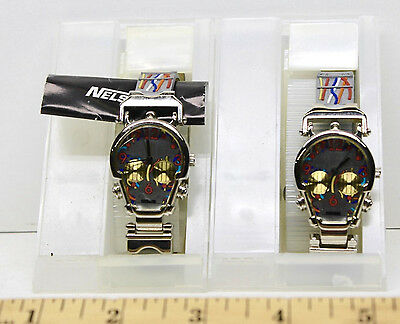 2 Star Wars Nelsonic C-3PO Skeletal Character Collectible Watches Tested Works