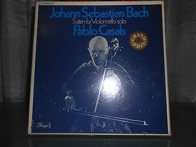 PABLO CASALS BOX 3 LP GERMANY BACH SEALED ¡¡   Dacapo 1C 147-00892/4