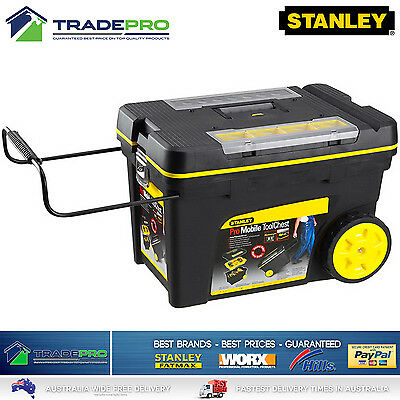 Stanley® Tool Chest Box PRO Mobile with Wheels Large Lockable Roller Storage