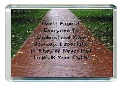Walk Path Of Life Behind Others Footsteps Quote Saying Gift Present Novelty
