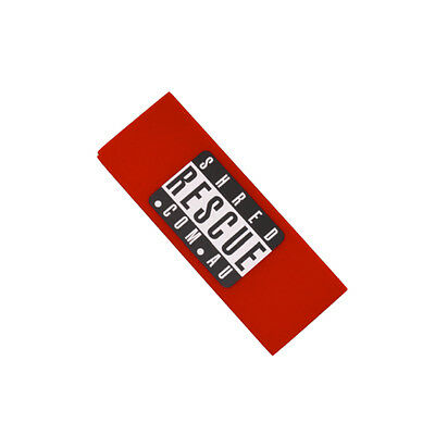 Ski & Snowboard Wax Scraper Shred Rescue Biggie with Edge Notch Red