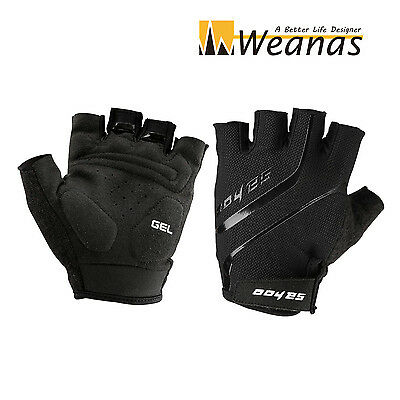 Weanas® Breathable GEL Silicone Bike Bicycle Half Finger Gloves Cycling / Size-L