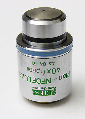 Zeiss Ph3 Plan Neofluar 40x 1.30 Oil Microscope Objective 440451 Phase Contrast