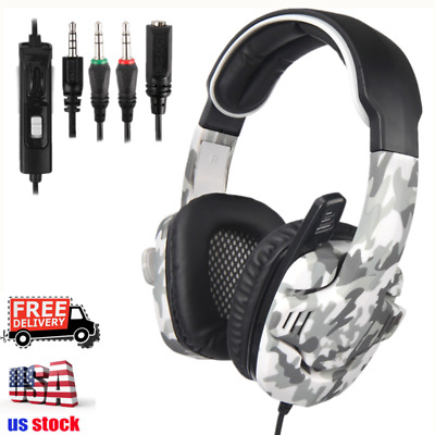 Sades Gaming Headset 7.1 Surround Sound Stereo Bass Headphones USB w/Mic for PC