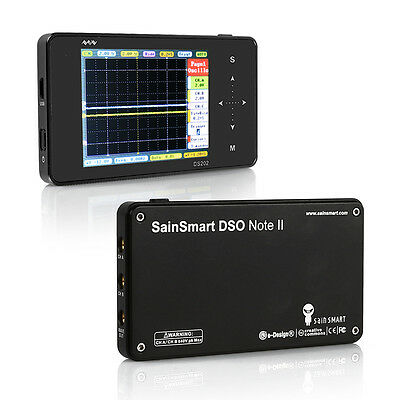 SainSmart Nano Quad Portable Pocket DSO202 Digital Handheld Oscilloscope 2CH