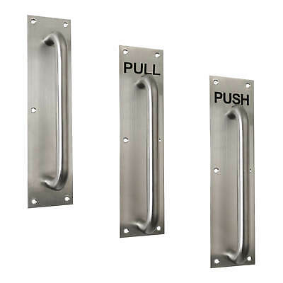 D Handle Satin Stainless Steel 19mm Bolt Through Pull 150 225 300 420 450 600 mm