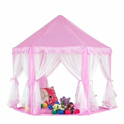 kinder leinen spielzelt pink garten drau en und drinnen pop up zelt spielhaus eur 49 99. Black Bedroom Furniture Sets. Home Design Ideas