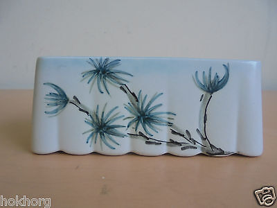 E Radford Pottery Small Rectangle Posy In Fe Pattern C1940S 11Cms