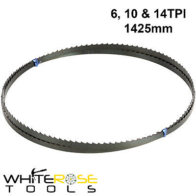 "Silverline 1425mm (56"") Bandsaw Blades 6TPI 10TPI 14TPI Metal Plastic Wood"