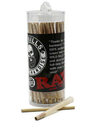 RAW CLASSIC 98mm Size Pre-Rolled Cones with Filter (125 Pack)