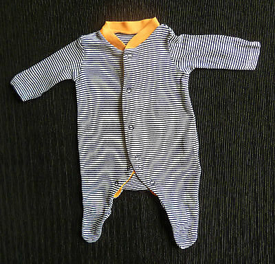 Baby clothes BOY premature/tiny<5lb/2.3k Mothercare navy/white/orange babygrow