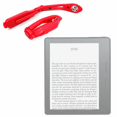"""Clip On LED Reading Light in Red For Amazon Kindle Oasis 6"""""""
