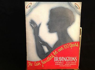 Vintage Bravingtons Jewellers Brochure Catalogue Ring Watches Clocks