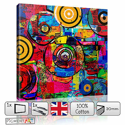 Large Abstract Colourful Modern Stretched Canvas Wall Art Prints Pictures