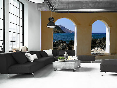 Window to the Sea Wall Mural Photo Wallpaper GIANT DECOR Paper Poster Free Paste