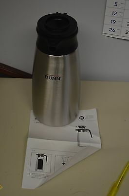 Brand New BUNN STAINLESS STEEL COFFEE THERMOS/WARMER/CARAFE/AIRPOT 1.9L