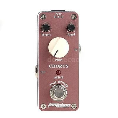 Aroma ACH-3 Mini Chorus Electric Guitar Effect Pedal with Fastener Tape ~ A6D8