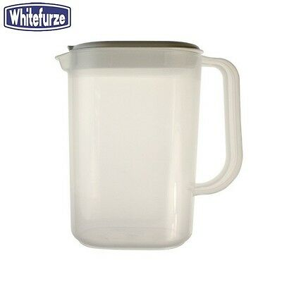 Whitefurze Fridge Jug With White Lid 1.5L Water Serveware Kitchen Home New