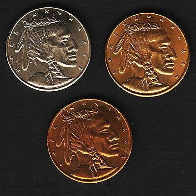 1976 Set of 3 Midwest Stamp and Coin show Souvenir Coins