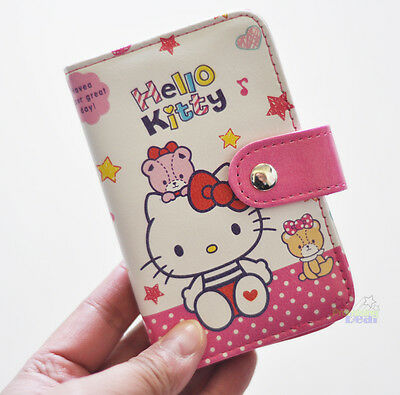 cute hello kitty pu id credit card id card holder business cards