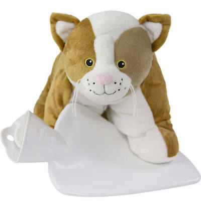 Hugo Frosch Hot Water Bottle With Cuddly Cat Cover 1.8L