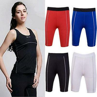 Women's Gym Compression Tights   Under Skins Shorts Sports Pants Y26