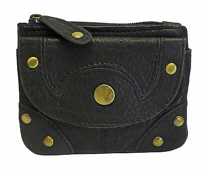 Wholesale Joblot x 10 Genuine Buffalo Leather Black Coin Purses