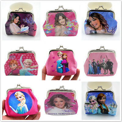 New Disney Cartoon Fantasy PVC Purses Wallets Children Gifts New 9 Colour