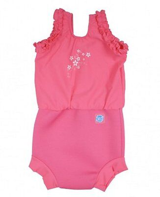 Splash About Happy Nappy Costume - Pink Blossom - 12-24m