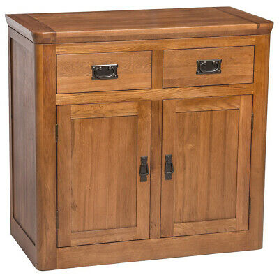 Solid Oak Small Sideboard | Narrow Wooden Storage Dresser/Cupboard/Cabinet
