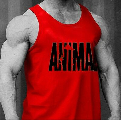 Pro Animal Men's Bodybuilding Gym Tank tops stringer Workout Vest fitness tops