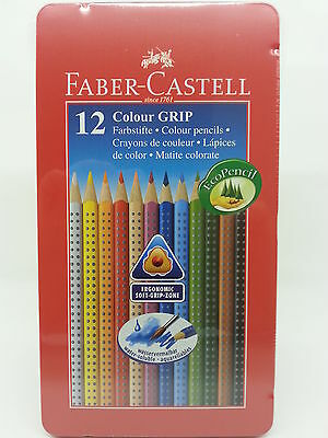 Faber-Castell Buntstifte Colour GRIP 12er Metalletui