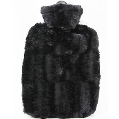 Hugo Frosch Hot Water Bottle With Soft Black Cover Estravaganza 1.8L