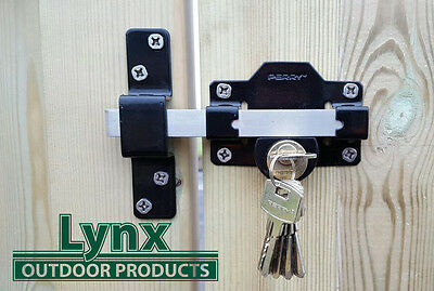 PERRY 50mm Long Throw Gate Lock for Garden Gat /shed/door Lockable on Both Sides