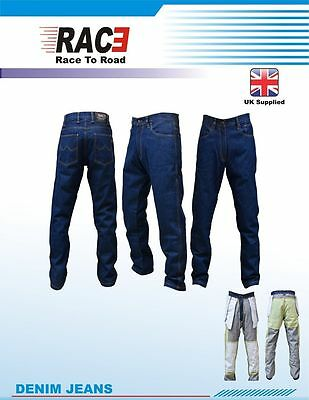 RAC3 Mens Motorbike Motorcycle Protective Armoured Lining Denim Jeans Trousers