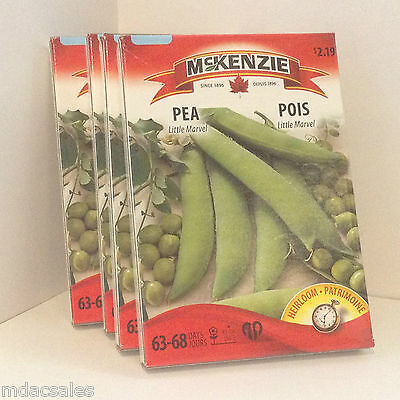 SEALED BOXES! McKENZIE VEGETABLE SEEDS, LOT OF 4 BOXES