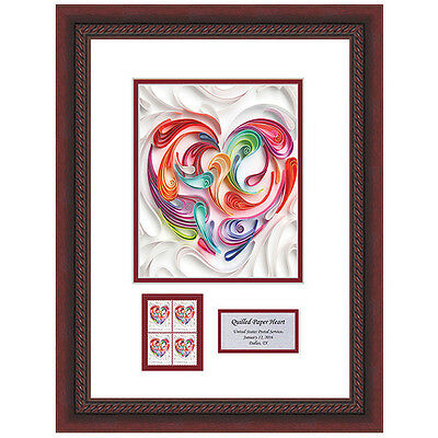 USPS New Quilled Paper Heart Framed Art